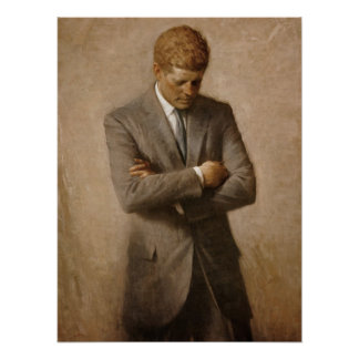 Póster Poster oficial del retrato de John F. Kennedy