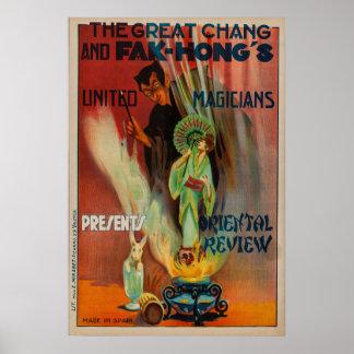 Póster Poster oriental de la magia del estudio de Chang y