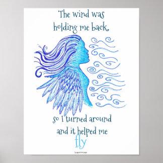 Póster Poster para enmarcar inspirado el viento