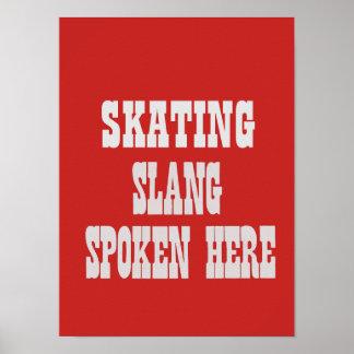 Póster Poster patinador del argot