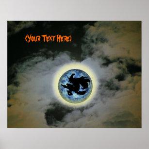Póster Poster personalizado de la Luna Llena de la bruja aff6e973445