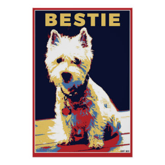 Póster Poster político del estilo de Bestie Westie