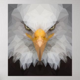Póster Poster polivinílico bajo del retrato del águila
