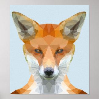 Póster Poster polivinílico bajo del zorro