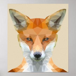 Póster Poster polivinílico bajo lindo del zorro