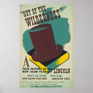 Póster Poster popular del festival del vintage