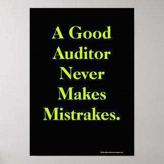 Póster Poster profundo de la cita de la auditoría del