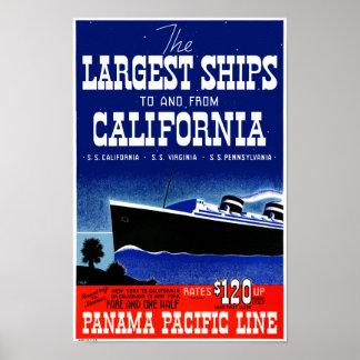 Póster Poster restaurado California del vintage de los