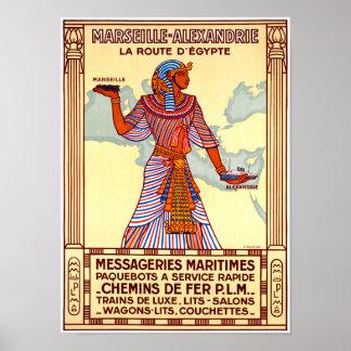 Póster Poster restaurado Egipto del viaje del vintage de