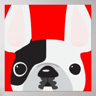 Póster Poster rojo de Frenchie