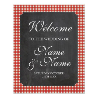 Póster Poster rojo del boda de la muestra del control del