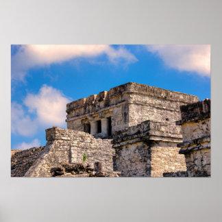 Póster Poster - ruinas mayas - Tulum, México