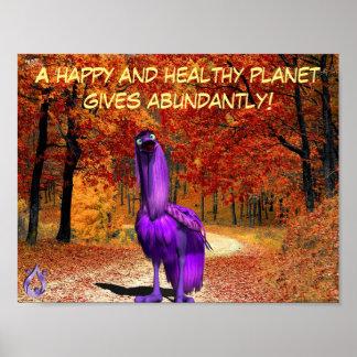Póster Poster sano del viajero del planeta
