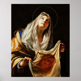 Póster Poster santo de la cubierta 03 de la cara del velo