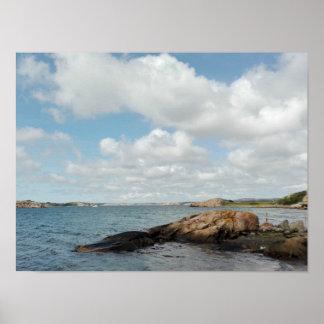 Póster Poster sueco de la costa