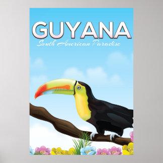 Póster Poster suramericano del viaje del paraíso de
