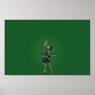 Póster Poster verde de la flecha