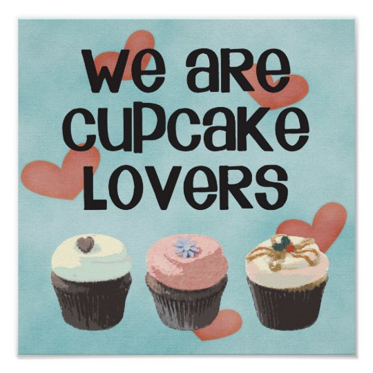 """Póster Poster """"WE ARE CUPCAKE LOVERS"""""""