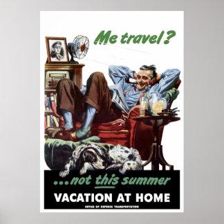 Póster Poster WW2 de las vacaciones en casa