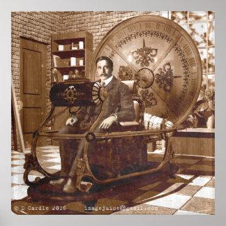 Póster Pozos del hectogramo que se sientan en la máquina