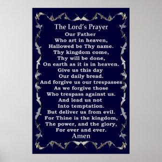 Póster Prayer de señor en frontera de la gaviota del