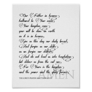 Póster Prayer Print del señor
