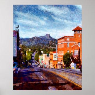 Póster Prescott, calle de Arizona Gurley