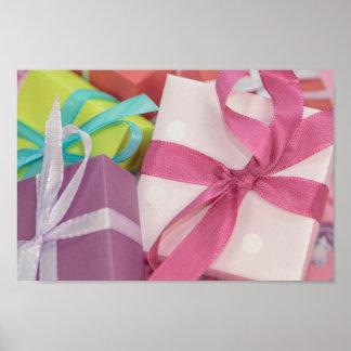 Póster Presentes envueltos regalo