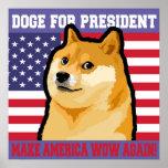 Póster Presidente del dux - dux perro-lindo del