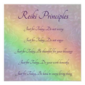 Póster Principios de Reiki