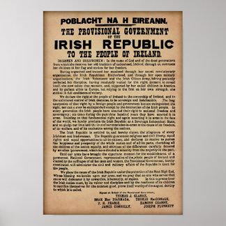 """Póster Proclamación irlandesa 1916 (copia original 19"""""""