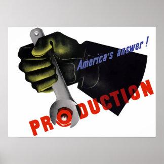 Póster Producción de la Segunda Guerra Mundial