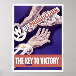 Póster Producción la llave a la victoria -- WW2