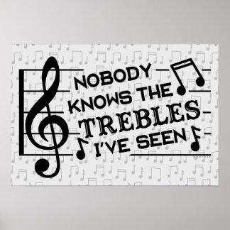 Póster Profesores de música divertidos del retruécano el