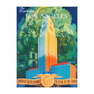 Poster promocional de Los Ángeles Lienzo Envuelto Para Galerias