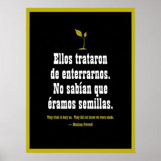 Póster Proverbio mexicano