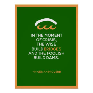 Póster Proverbio nigeriano
