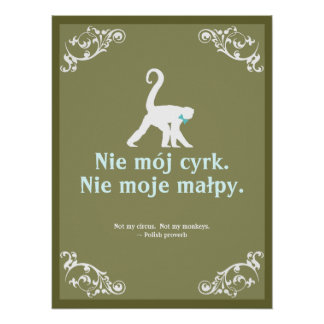 Póster Proverbio polaco