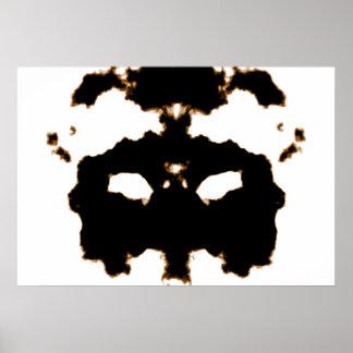 Póster Prueba de Rorschach de una tarjeta de la mancha