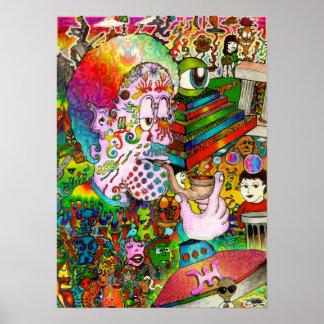 Poster psicodélico del arte del accidente de Hangt