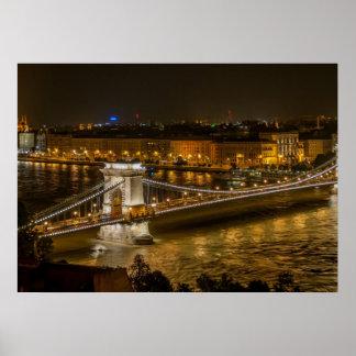 Póster Puente de cadena de Budapest