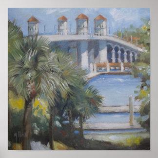 Póster Puente de St Augustine de leones