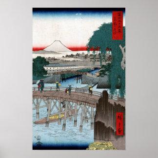 Póster Puente de Utagawa Hiroshige Ichikobu