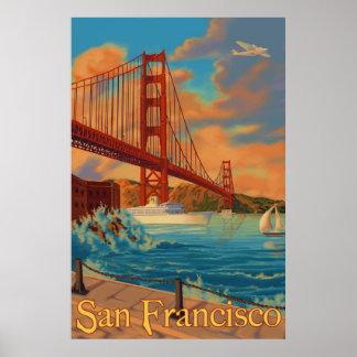 Póster Puente Golden Gate - San Francisco, poster de CA