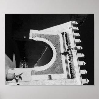 Póster Puerta marroquí