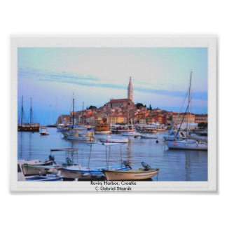 Póster Puerto de Rovinj, poster de Croacia
