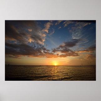 Póster Puesta del sol de la Costa del Golfo - poster de