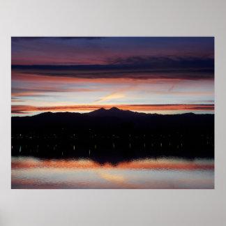 Póster Puesta del sol de Loveland del lago