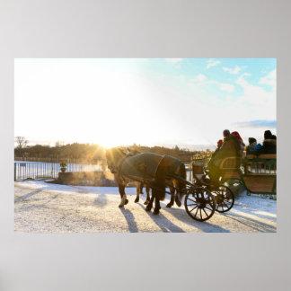 Póster Puesta del sol del invierno
