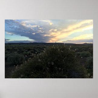 Póster Puesta del sol del penacho de Apache
